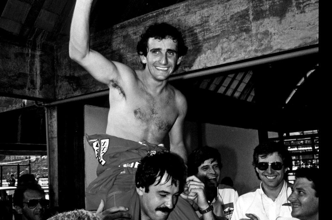 25 mars 1984, première victoire d'Alain Prost pour son retour chez McLaren au grand prix du Brésil à Rio de Janeiro.